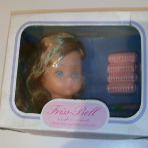 FRISS-BELL BELLA VINTAGE MADE IN FRANCE FASHION DOLL HEAD
